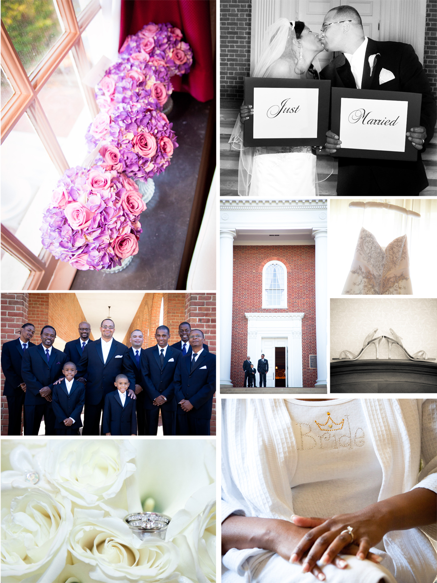 Wedding Photographs/ Collage of Inspiration for a Purple wedding