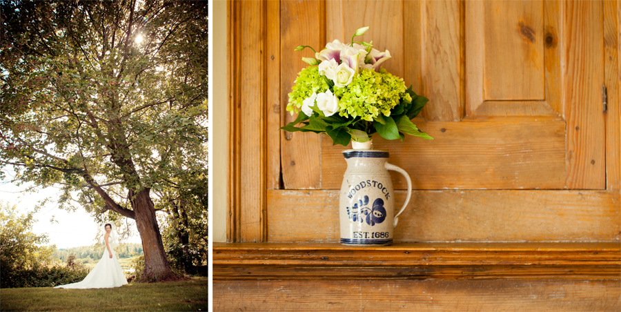 Country chic wedding color photography/ connecticut wedding photographer