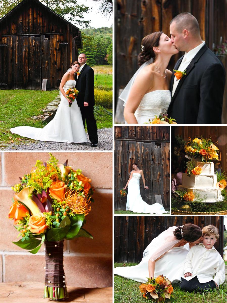 orange, brown yellow wedding colors/photography