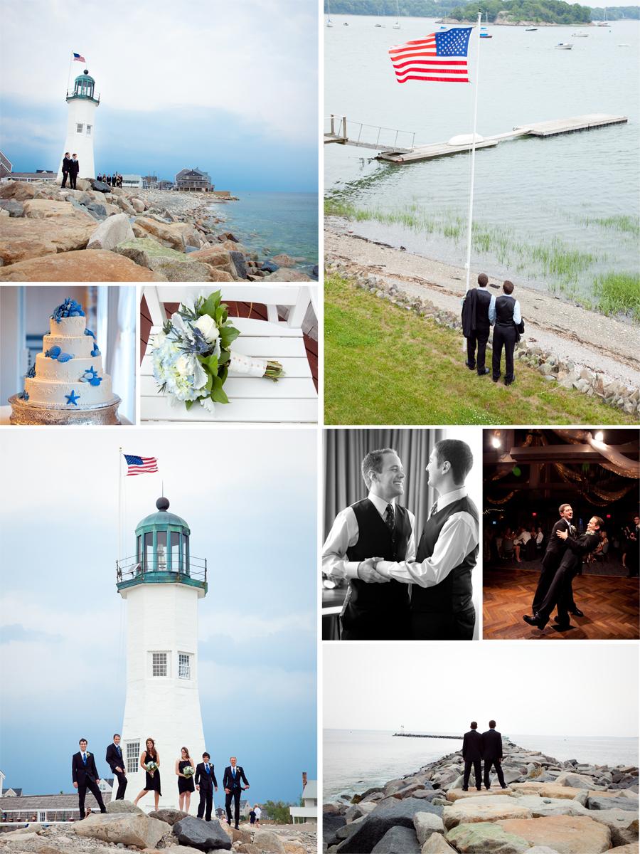 Color Wedding Photographs/ Massachusetts Wedding Photographs/ Lighthouse wedding images/Barker Tavern Wedding Photography