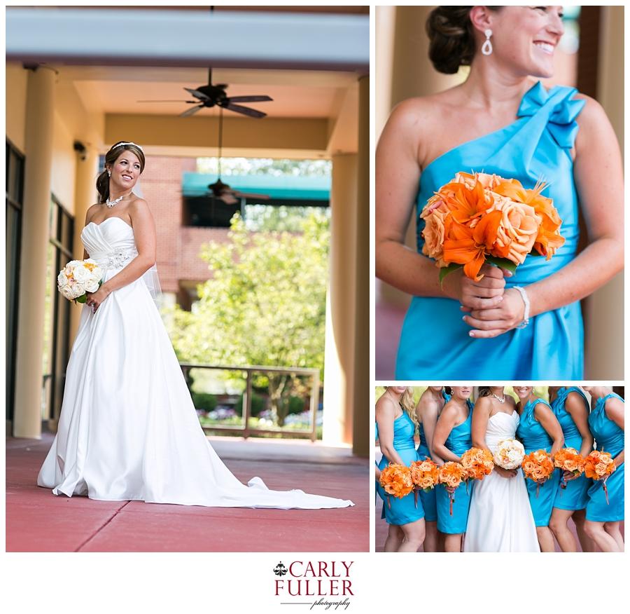 Annapolis Wedding Photographer | Loews Annapolis Wedding Photography | Blue and Orange bridesmaid colors