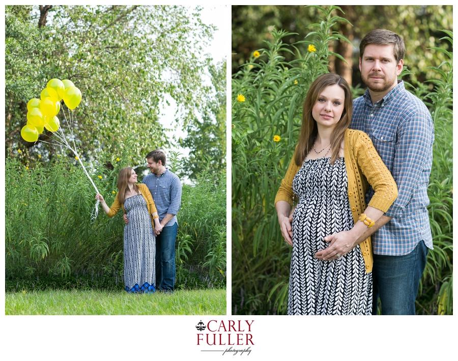 Alexandria Maternity Photographer - Yellow balloon maternity photography