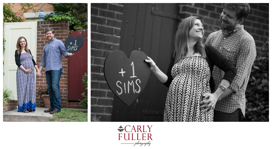 +1 baby photo board - Old Town Alexandria Maternity Photographs
