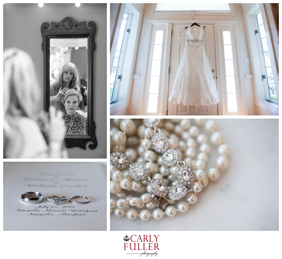 Getting Ready - Pearls - July Annapolis MD Wedding Photographer