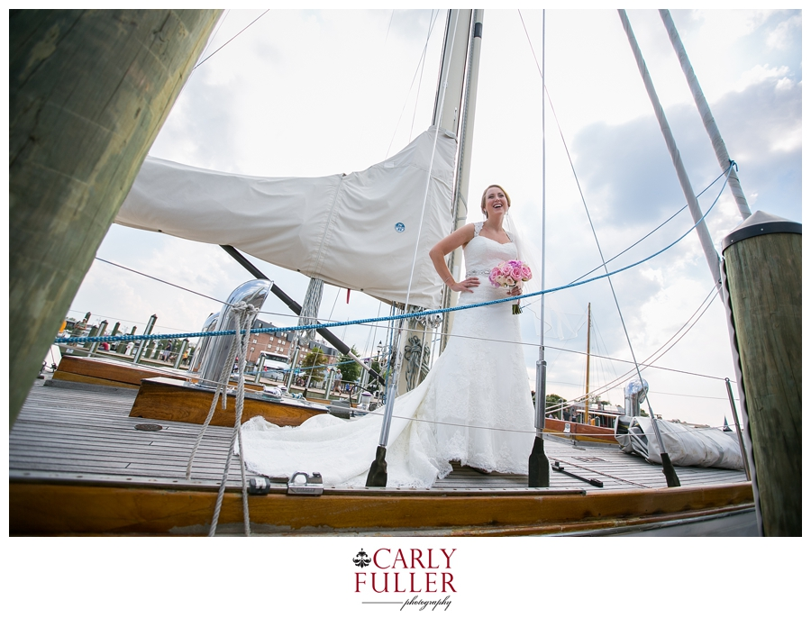 City Dock Annapolis Wedding Photographer - Annapolis Maryland Bridal Photograph