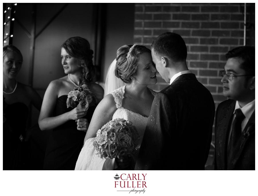 Annapolis Maryland Wedding Ceremony Black and white photograph