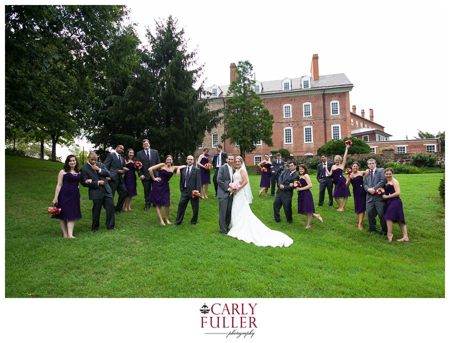 Calvert House Annapolis Wedding Party Photograph - Maryland Capital Wedding Photographs