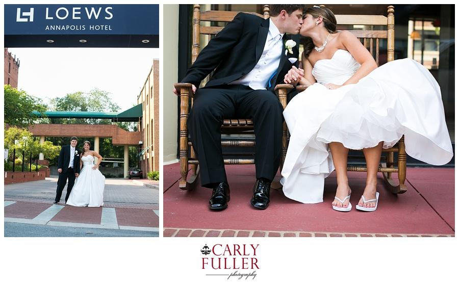 Annapolis Wedding Photographer | Loews Annapolis Wedding Photography | Rocking chair wedding photograph