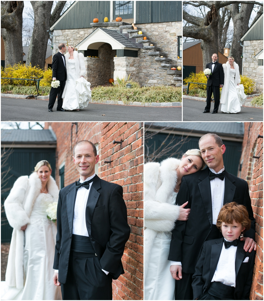 Hayfield Country Club Winter Wedding Photographer - Outdoor wedding photograph
