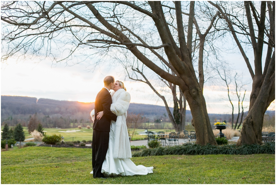 Hayfield Country Club Winter Wedding Photographer - sunset at hayfield country club