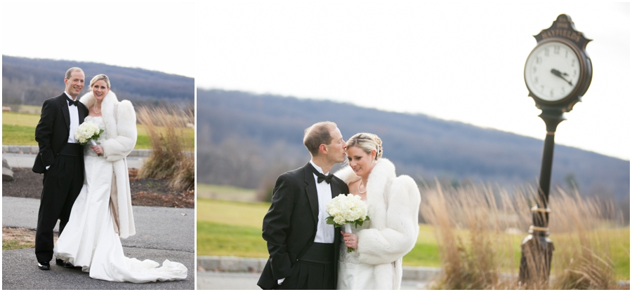 Bridal Portraits - Hayfield Country Club Winter Wedding Photographer