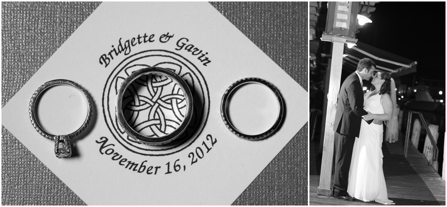 Annapolit Waterfront Marriott - Annapolis Wedding Photographer - Evening wedding portraits - Celtic Ring Detail