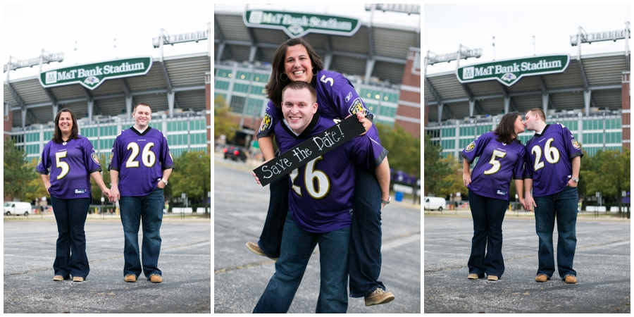 Baltimore Ravens Engagement Photos - M&T Bank Stadium photo - Katey & Frank