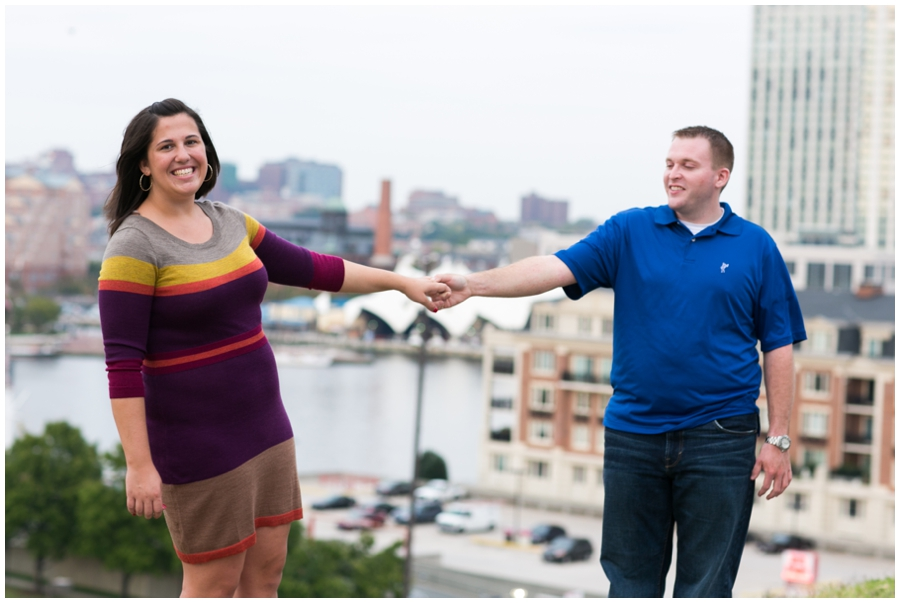 Baltimore Federal Hill Engagement Photos - Baltimore overlook photo - Katey & Frank