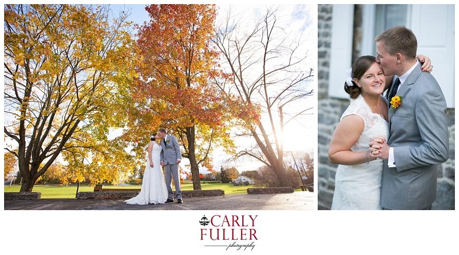 Autumn Mountain Wedding - Gettysburg Wedding Ceremony - PA Wedding Photographer