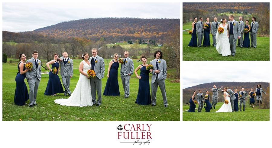 Autumn Mountain Wedding - Liberty Wedding Party Photographer - PA Wedding Photographer