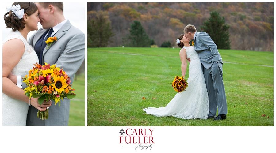Autumn Mountain Wedding - Liberty Wedding First Look - PA Wedding Photographer