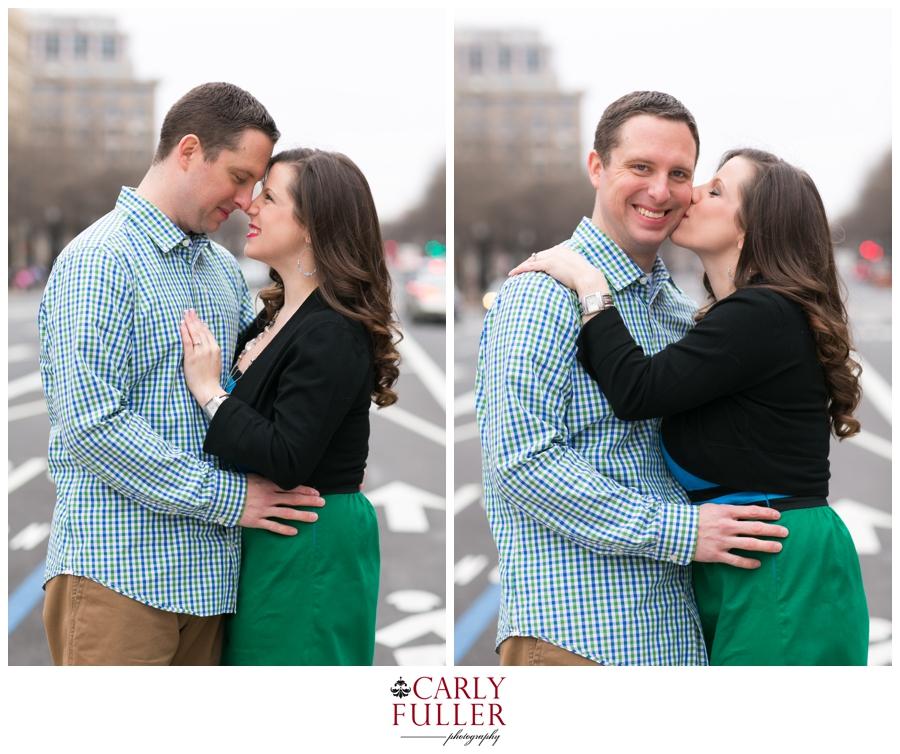 Washington DC Engagement - Love Session at the Capital - Pennsylvania Ave Engagement photo