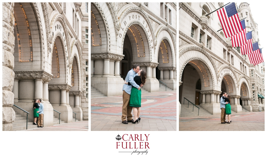 Washington DC Engagement - Love Session at the Old Post Office - Pennsylvania Ave Engagement photo