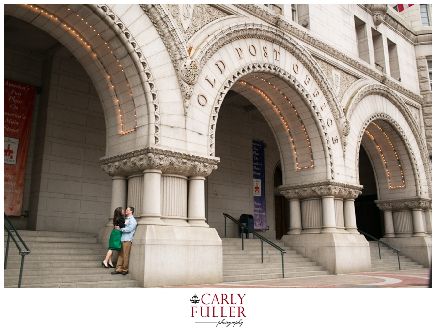 Washington DC Engagement - Love Session at Old Post Office - Archway engagement photo