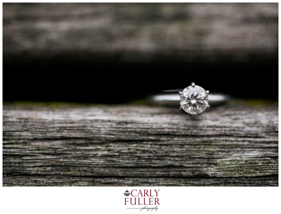 Princess Cut Ring Detail - Washington DC Engagement