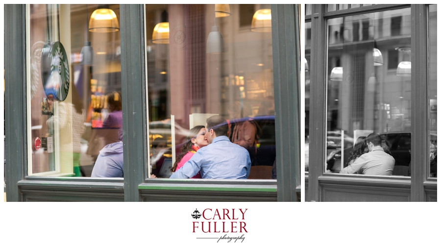 Starbucks Lifestyle Shoot - Pink Sweater - Washington DC Engagement - Love Session