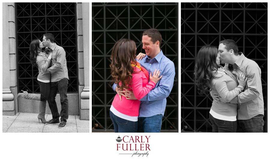 Pink Sweater - Washington DC Engagement - romantic Love Session