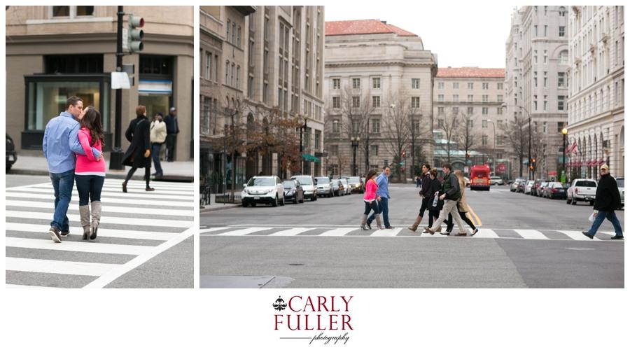 Washington DC Engagement - Love Session - Street Cross Walk photo