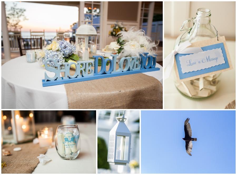 Chesapeake Bay Beach Club Wedding Details - Gold Sunset Ballroom