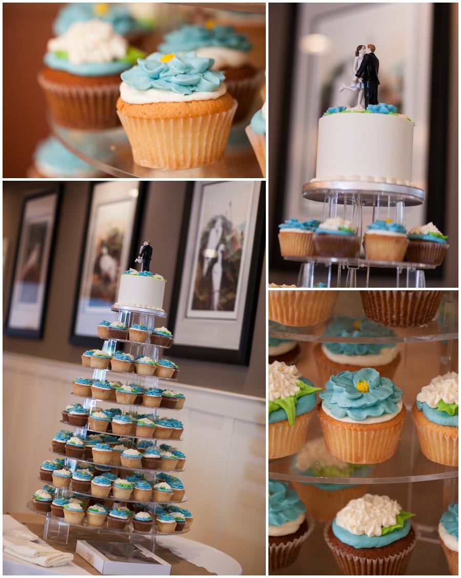 Chesapeake Bay Beach Club Wedding Details - Cupcake Wedding Tower