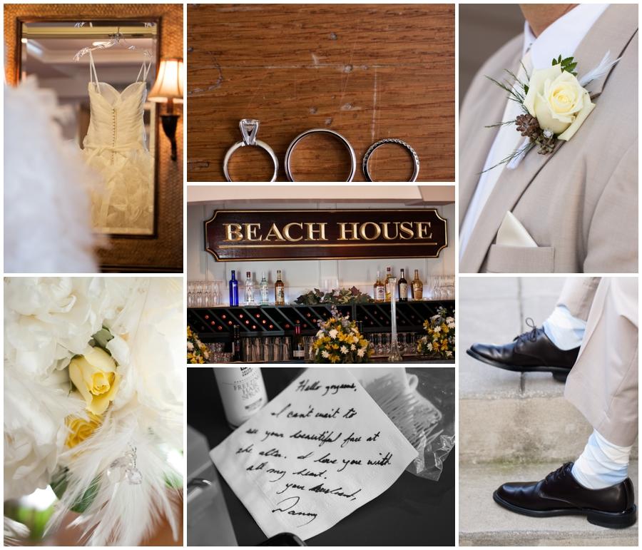 Beach House Wedding Details - Waterfront Wedding Details