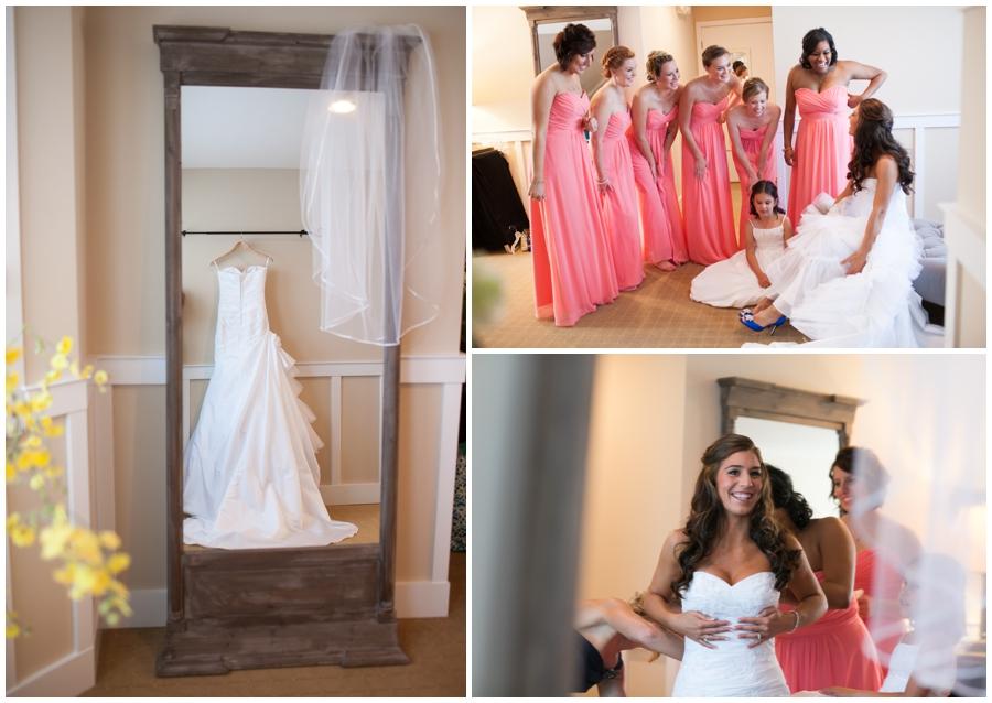 Chesapeake Bay Beach Club Wedding Photographer - Bridals by Elena Wedding dress