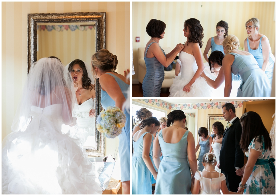 Beach House Wedding Getting Ready - Waterfront Wedding Party