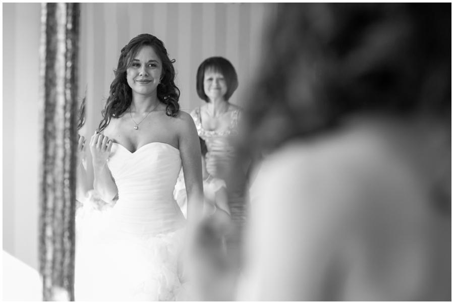 Beach House Wedding - Waterfront Bridal Portrait