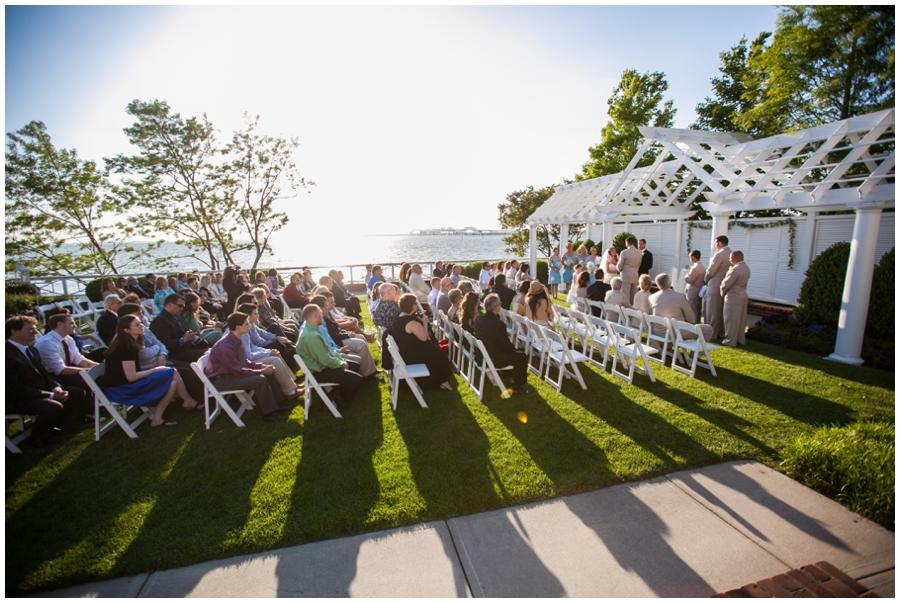 Chesapeake Bay Beach Club Wedding Ceremony - Waterfront Outdoor Ceremony