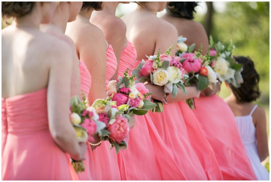 Chesapeake Bay Beach Club Wedding Photographer - Local Color Flowers - Chesapeake Bay Sunset Ceremony