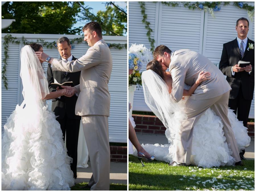Beach Club Wedding Ceremony - Waterfront Outdoor Ceremony