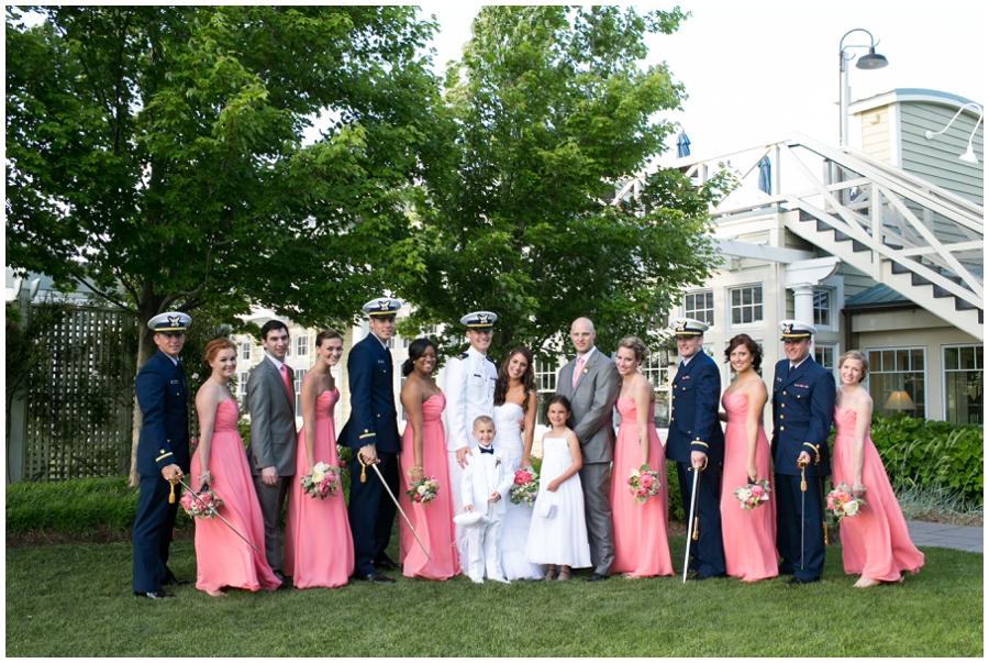 Waterfront Wedding Photographer - Chesapeake Bay Wedding Party Photograph