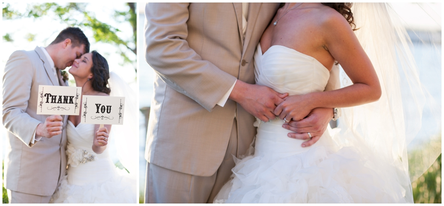 Chesapeake Bay Wedding photographer - Waterfront Sunset Bride and groom photo