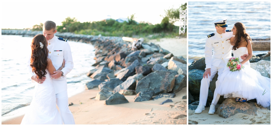 Beach Waterfront Wedding Photography - Local Color Flowers - Chesapeake Bay Beach Club Wedding Photographer