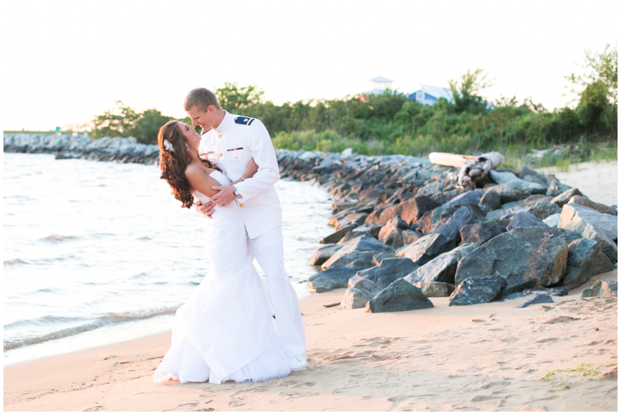 Beach Waterfront Wedding Photography - Chesapeake Bay Beach Club Wedding Photographer