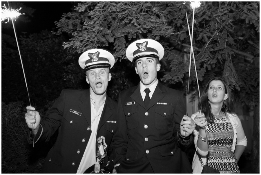 Tavern Ballroom Wedding Sparkler Exit Photographs - Chesapeake Bay Beach Club Wedding Sparkler Photographer