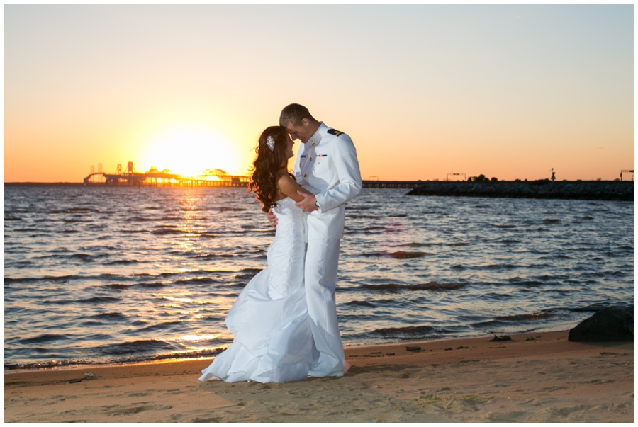 Sunset Beach Wedding Photography - Chesapeake Bay Beach Club Wedding Photographer