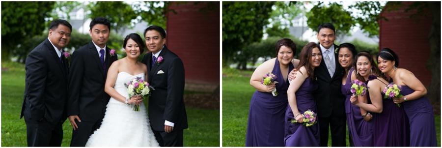 Swan Harbor Farm Wedding Photographer - Purple bridesmaid dress