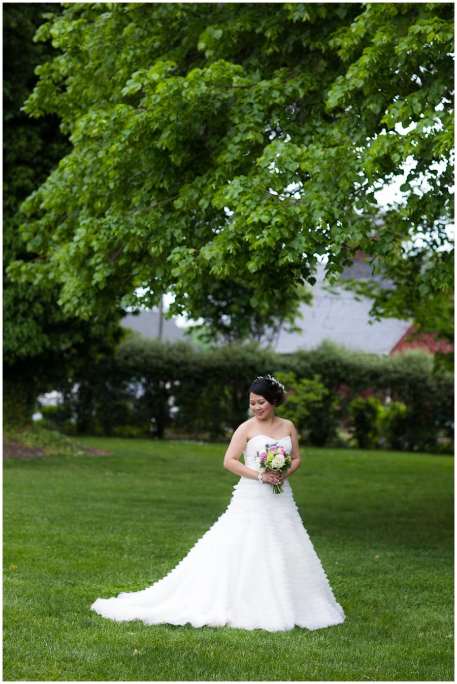 Chic Farm Wedding Photograph - Swan Harbor Farm Bridal Portrait