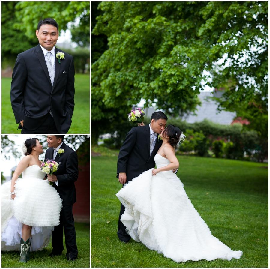 Chic Farm Wedding Photograph - Maryland Farm Wedding Photographer