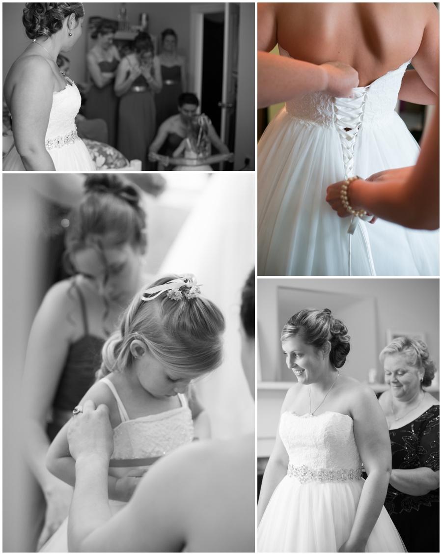 Black and white bride getting ready - Davidsonville Farm Wedding Photographer