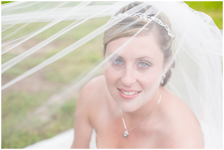 Spring Bridal Portrait through veil - Davidsonville Farm Wedding Photographer