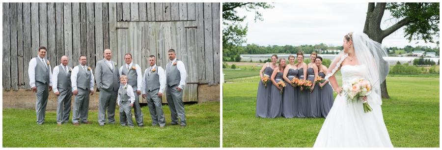 Spring Farm Wedding Party Portrait - Davidsonville Farm Wedding Photographer