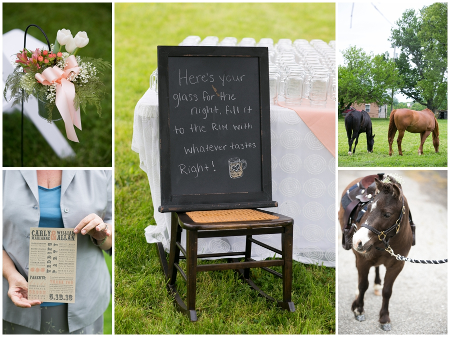 Spring Farm country wedding details - Davidsonville Rustic Farm Wedding Photographer